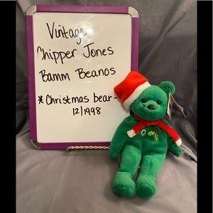 Vintage Chipper Jones Bamm Beanos Christmas Bear